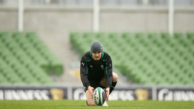 Jonathan Sexton will be in control of Ireland's place-kicking duties against South Africa on Saturday