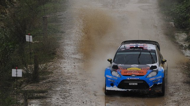 Ostberg, who won in Portugal earlier this year, leads Loeb by 27.2secs