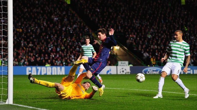 Fraser Forster's heroics helped Celtic defeat Barcelona in the Champions League in midweek