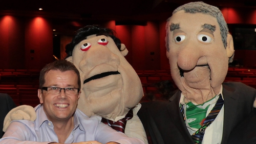 Paul Howard with Biffo and Bertie