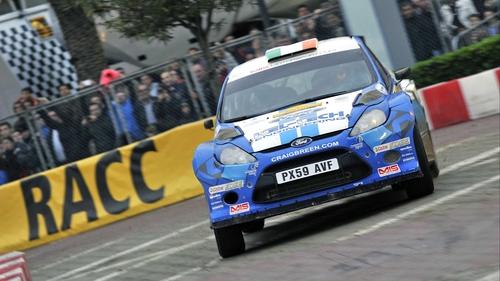 Craig Breen in action at Rally de Espana
