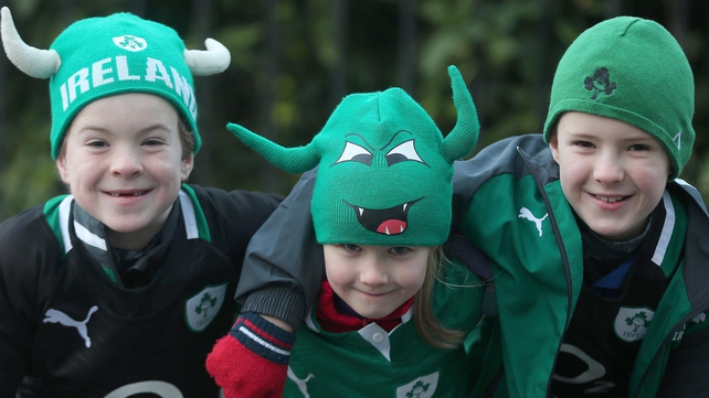 Young Ireland fans get ready for the game