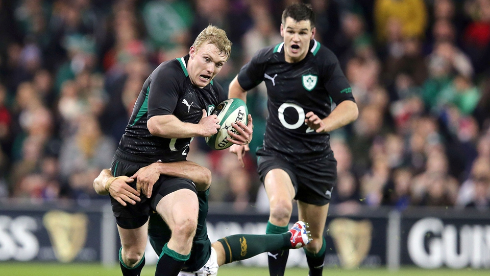 Keith Earls, starting in place of the injured Brian O'Driscoll, made some impressive runs