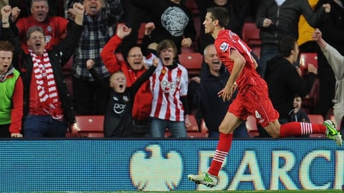 Morgan Schneiderlin of Southampton opened the scoring - to the delight of the home fans - but the Saints couldn't hold on to their lead