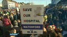 Thousands protest over fears of Waterford hospital downgrade