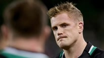 Ireland captain Jamie Heaslip gives his reaction to RTÉ's Clare MacNamara