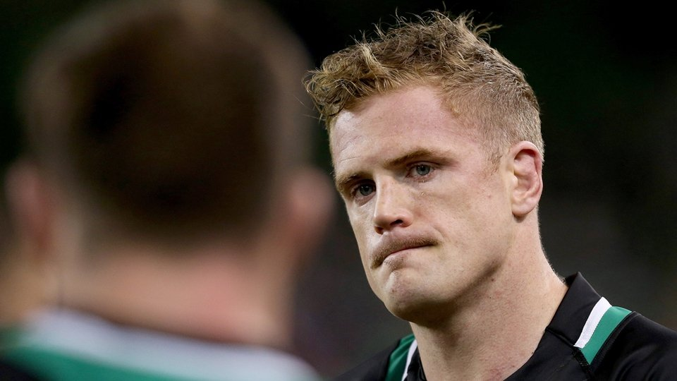 Captain Jamie Heaslip was dejected at the final whistle