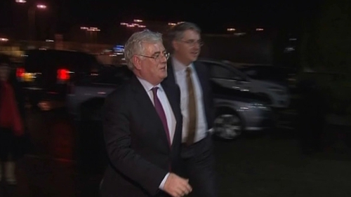Tánaiste Eamon Gilmore arrives at the SDLP conference