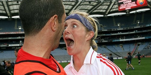 Elaine Harte celebrates All Ireland victory in September