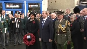 Enda Kenny attends an event in Enniskillen on the 25th anniversary of the IRA bombing