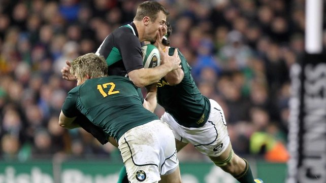 Tommy Bowe and Ireland's effort met with stern South African resistance in Saturday's second half at the Aviva