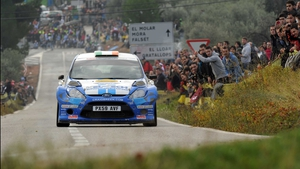 Craig Breen and Paul Nagle in action in Spain
