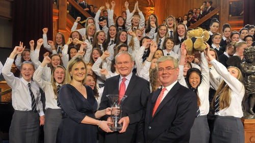 Eamon Gilmore and Martin McGuinness were the guests of honour