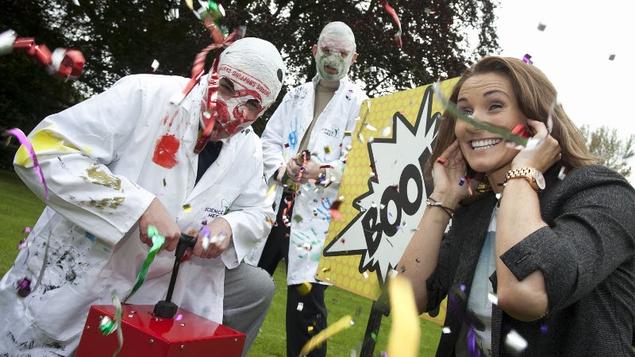 The Rubberbandits help launch Science Week 2012