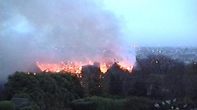 Amateur footage captured the blaze