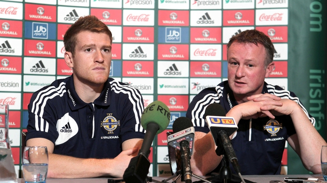 Northern Ireland boss Michael O'Neill (right) has called Josh Magennis into the squad as cover for Jamie Ward