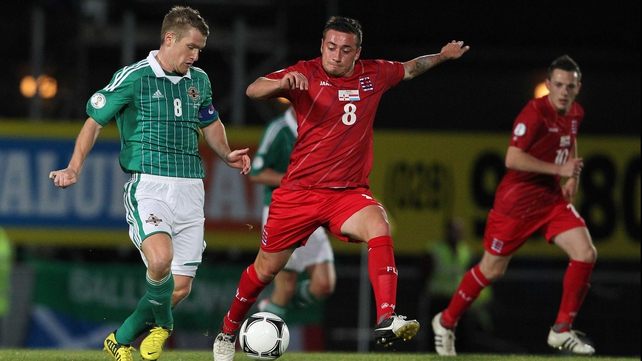 Steven Davis in action during the draw with Luxembourg
