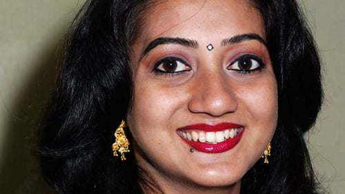 Savita Halappanavar was 17 weeks pregnant with her first child (Pic: The Irish Times)