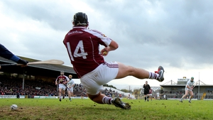 Dicksboro's Shane Maher saves a penalty by Ballyhale Shamrocks' Henry Shefflin in the Kilkenny final