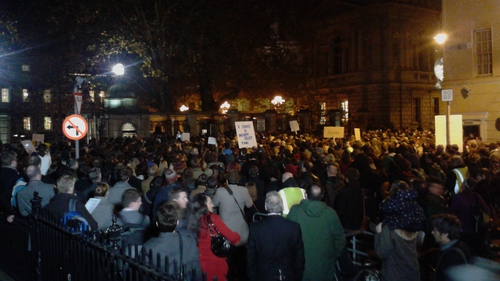 More than 1,000 people attended the protest at Leinster House