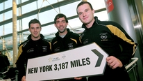 The GAA All-Stars depart for New York