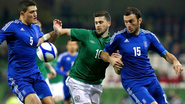 Ireland were beaten by Greece in the final international of 2012