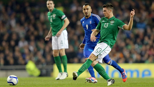 Ciaran Clark had a solid game against Greece