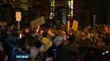 Demonstration outside Leinster House