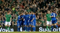 Georgios Samaras gives his reaction to RTÉ's Tony O'Donoghue