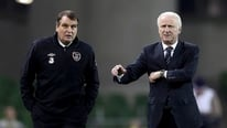 Giovanni Trapattoni gives his reaction to RTÉ's Tony O'Donoghue