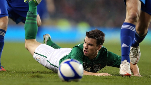 Seamus Coleman felt Ireland had a stonewall penalty claim in the opening minute against Greece