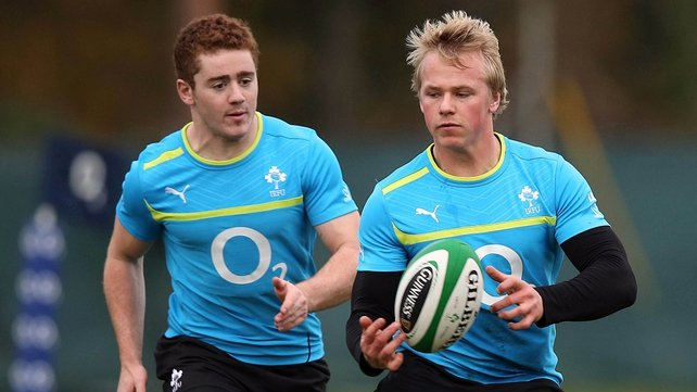 Ulster's Paddy Jackson (left) and Luke Marshall will both start for Ireland against the Fijians.
