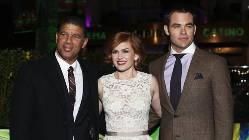 Director Peter Ramsey, Isla Fisher and Chris Pine