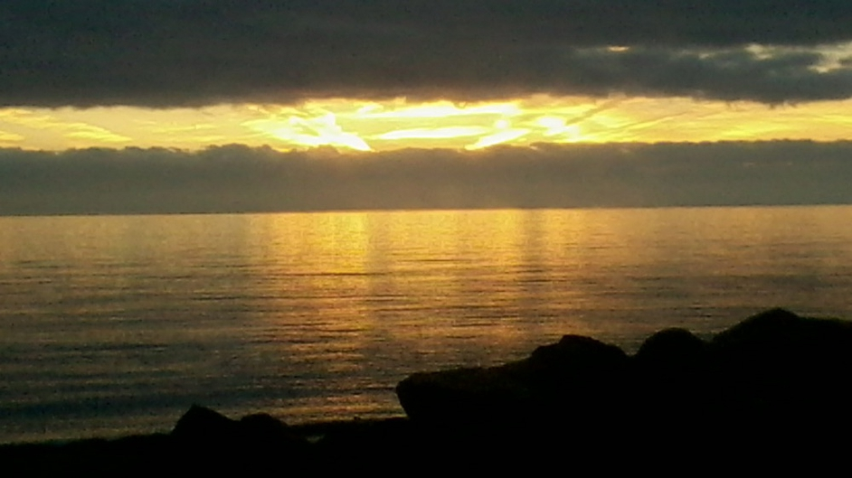 Sunrise in Kilcoole, Co Wicklow. Taken by Bray student Graeme Fisher on the Gorey to Dublin train at 7.15am on Thursday 15 November