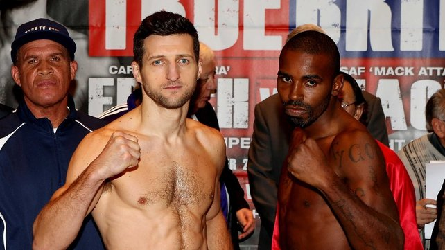 Carl Froch will face Yusaf Mack in Nottingham tomorrow night