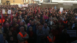Thousands of people attend rally in Navan.
