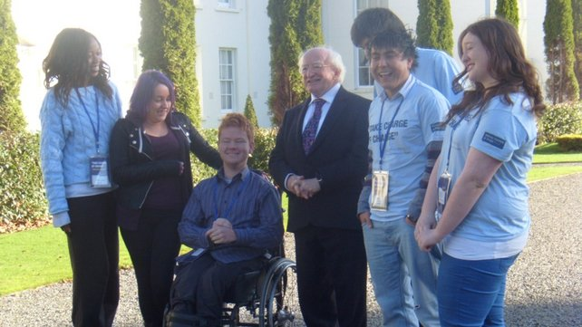 President Michael D Higgins commissioned the report into young people's attitudes