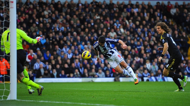 Shane Long headed West Brom in front against Chelsea and then set up the winning goal for Peter Odemwingie