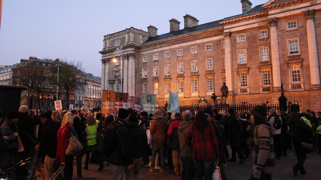 The Dublin march went from the Garden of Remembrance to Leinster House