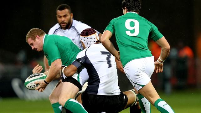 Sean Cronin scored Ireland's third try in Limerick