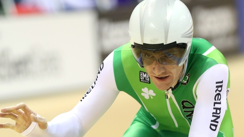 Irvine finished second to Olympic Omnium champion Lasse Hansen in the final of men's individual pursuit