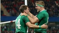 Ireland captain Jamie Heaslip pays tribute to the young players after the win over Fiji