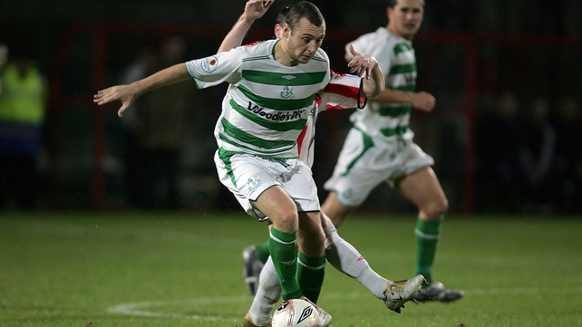 Mark Quigley played for Shamrock Rovers before the Dublin club moved to Tallaght Stadium