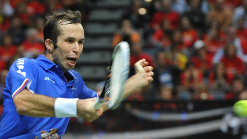 33-year-old Radek Stepanek won the decisive rubber against the higher-ranked Nicolas Almagro