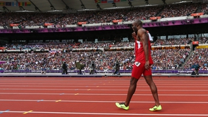 LaShawn Merritt, who challenged the Osaka Rule, pulls up injured at the London 2012 Olympics