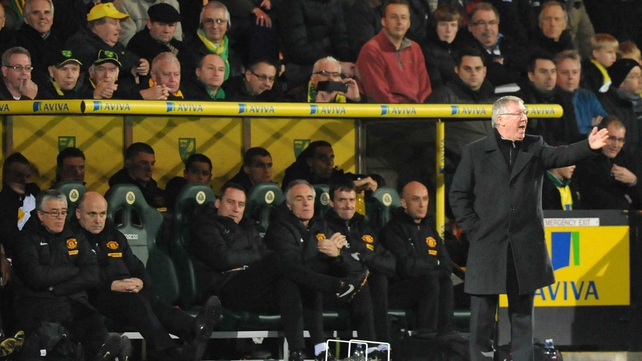 Alex Ferguson's side were beaten 1-0 by Norwich City at the weekend