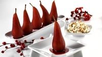 Mulled wine pears with fruit cake cream - A delicious Christmas dessert idea from Paul Flynn for Lidl