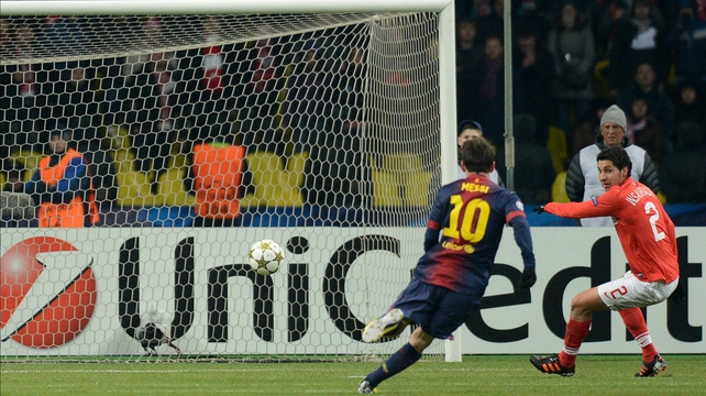 Lionel Messi was on the mark once again for Barcelona