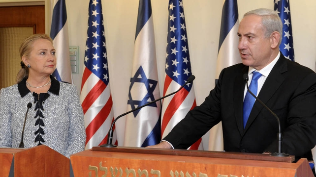 Hillary Clinton arrived in Israel as efforts to end the confrontation between Israel and Gaza have escalated