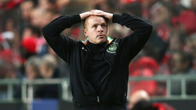 Neil Lennon saw his side go down to Motherwell